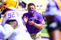 LSU's Ed Orgeron: 'They beat us, we have no excuse'