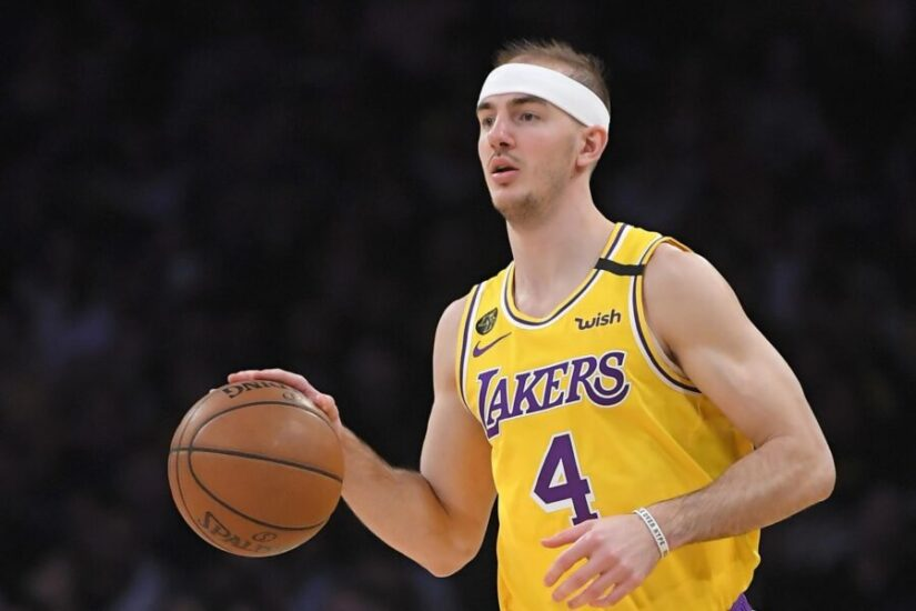 Alex Caruso of the LA Lakers