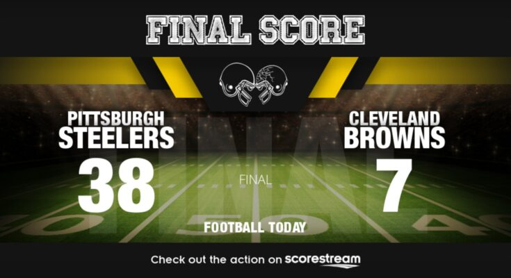 Cleveland Browns vs Pittsburgh Steelers in a football today game.