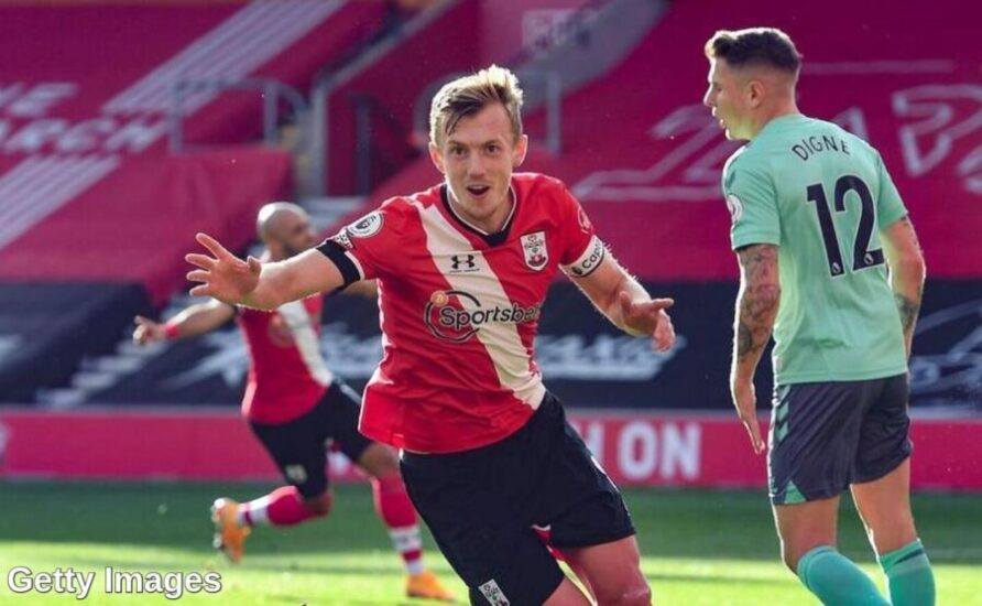 Southampton's midfielder James Ward-Prowse