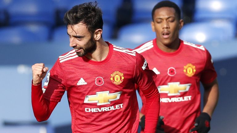 Manchester United player Bruno Fernandes