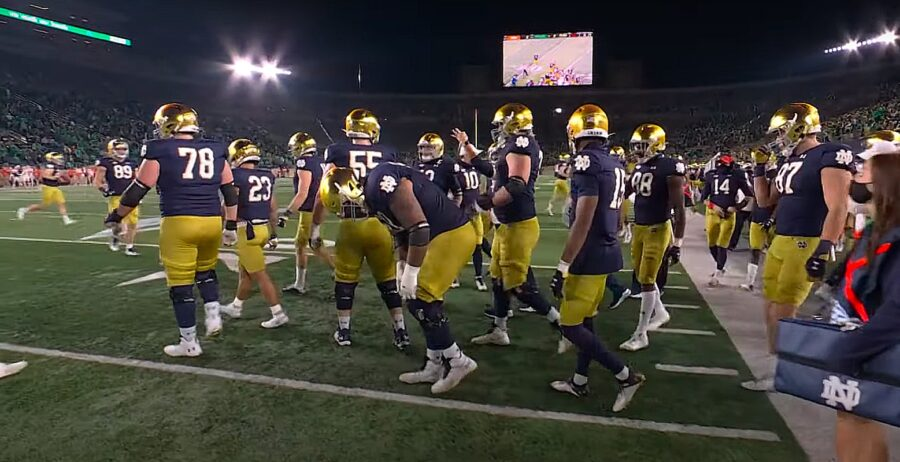Notre Dame College vs Clemson Football Team
