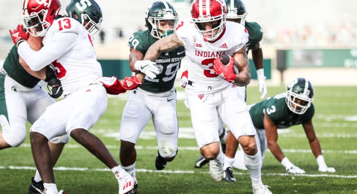 Ty Fryfogle of Indiana Hoosiers vs Michigan State Spartans