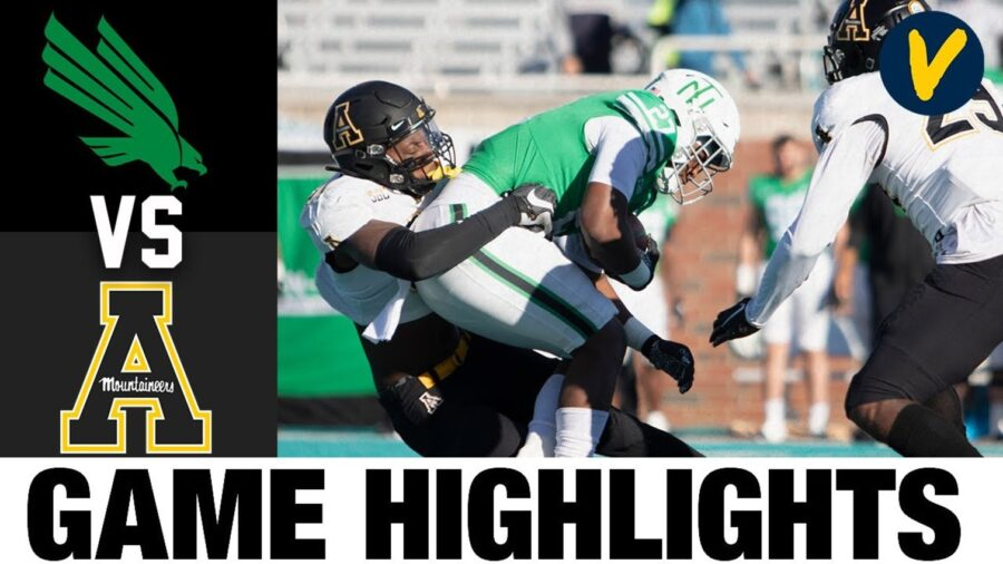 Appalachian State vs North Texas Myrtle Beach Bowl Highlights