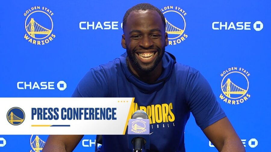 Draymond Green of the Golden State Warriors at his press conference