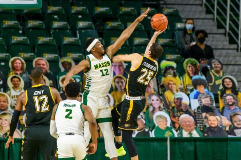 George Mason basketball in action