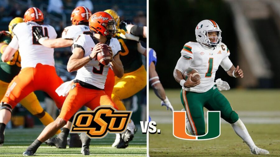 No. 21 Oklahoma State vs. No. 18 Miami College Bowl Schedule Today