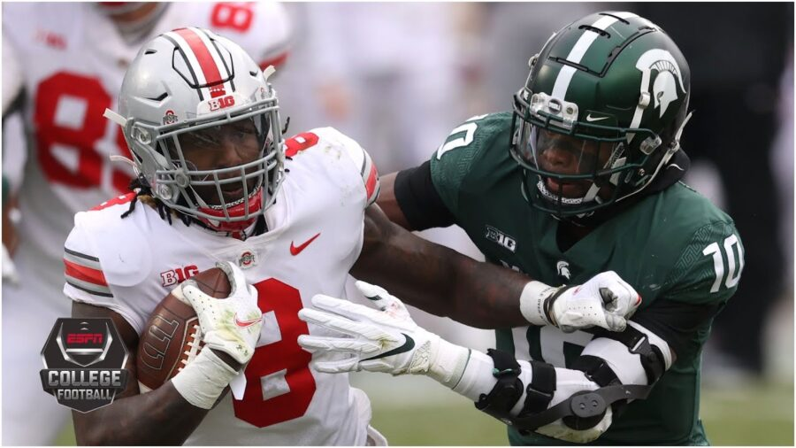 No. 3 Ohio State vs Michigan State 52-12 Big Ten