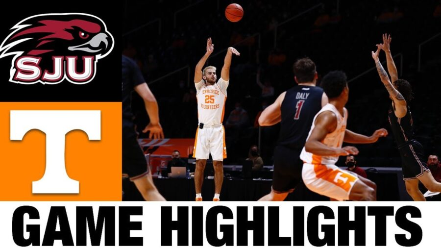 Tennessee Volunteers beat Saint Joseph's college basketball scores