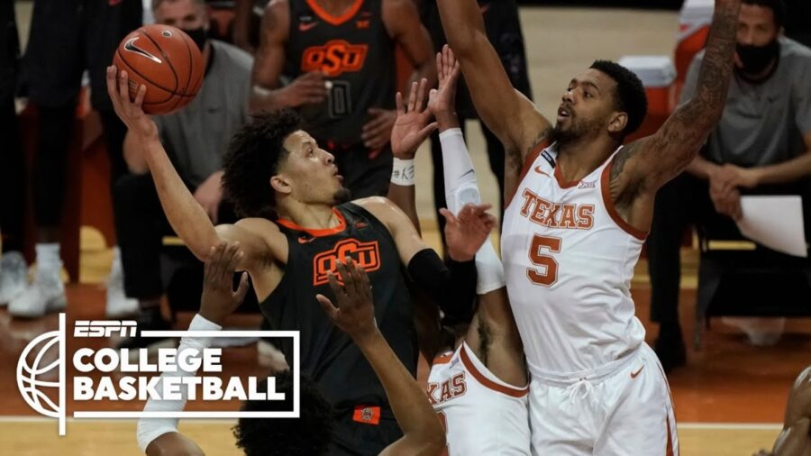 Texas Longhorns beat Oklahoma State 77-74 in big 12 play