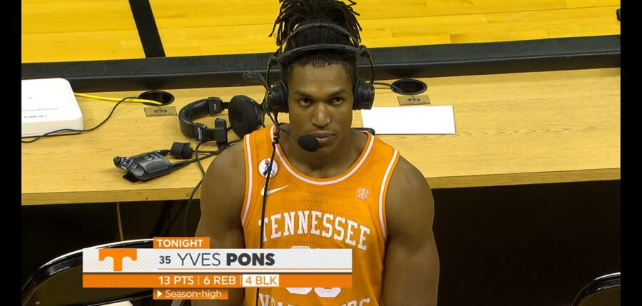 Yves Pons of Tennessee interview highlights