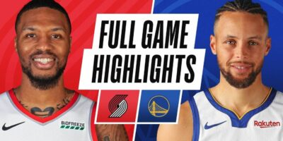 Golden State Warriors vs Portland Trail Blazers Highlights-Curry 62 points