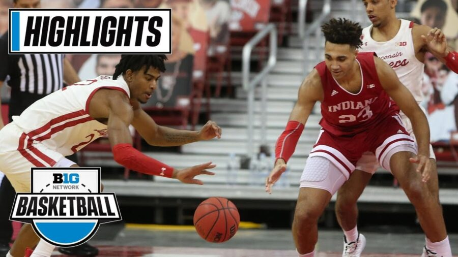 Wisconsin vs. Indiana college basketball in Big Ten Conference