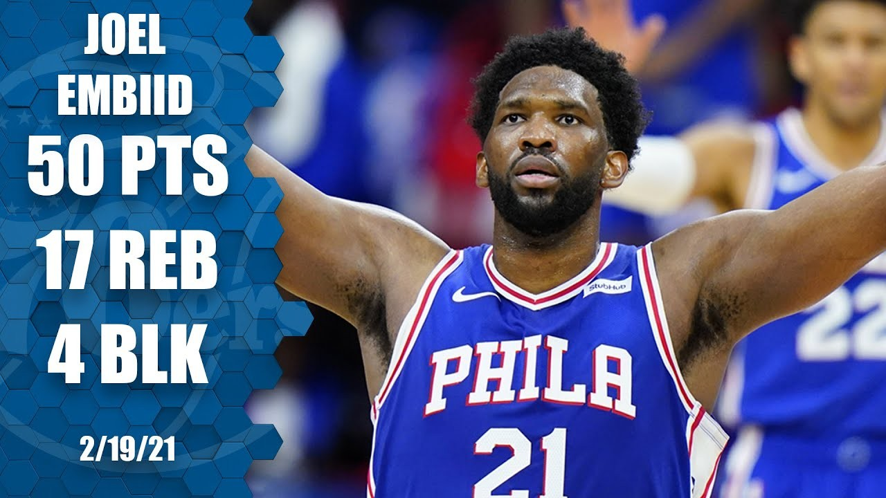 Joel Embiid of Philadelphia 76ers Career-High
