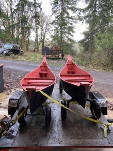 8ft chinook wagon canoes