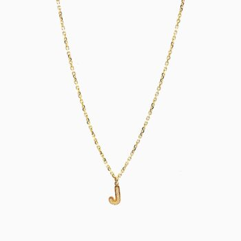 letter necklace gold J