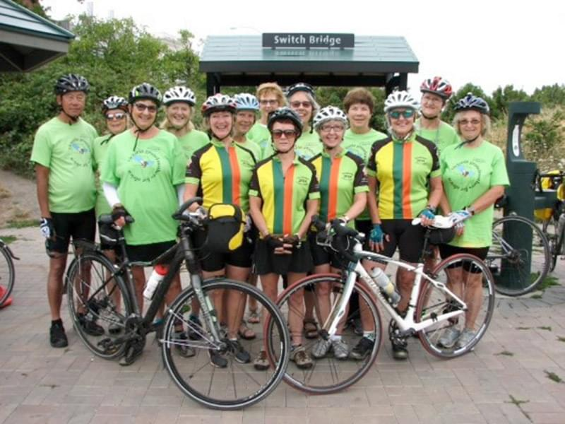 a group of grandmothers on bikes
