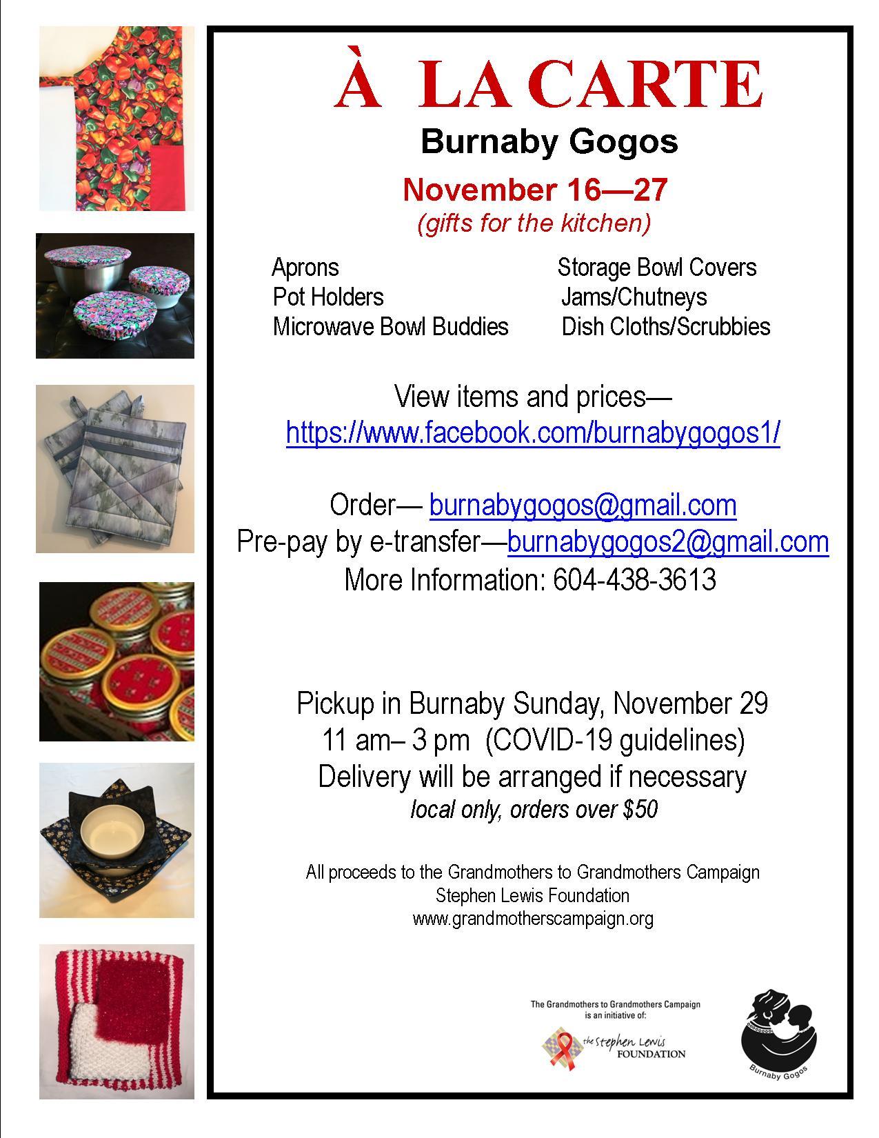 Burnaby Gogos online kitchen sale