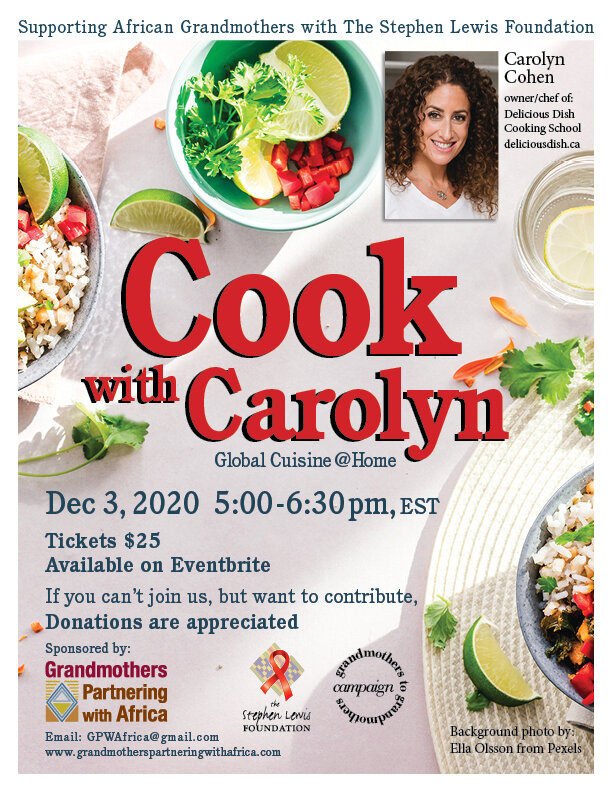 Cook with Carolyn event poster