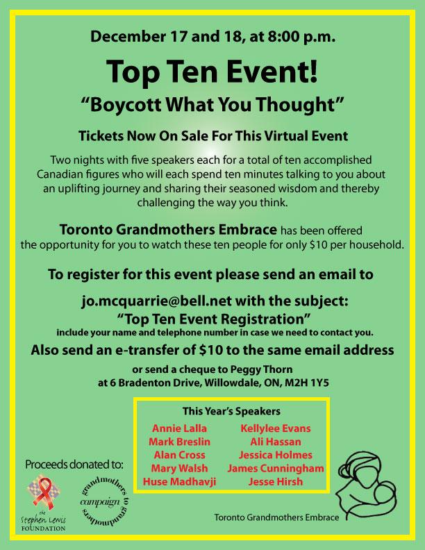 Top Ten Event Poster