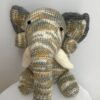 Brown and Grey knitted elephant