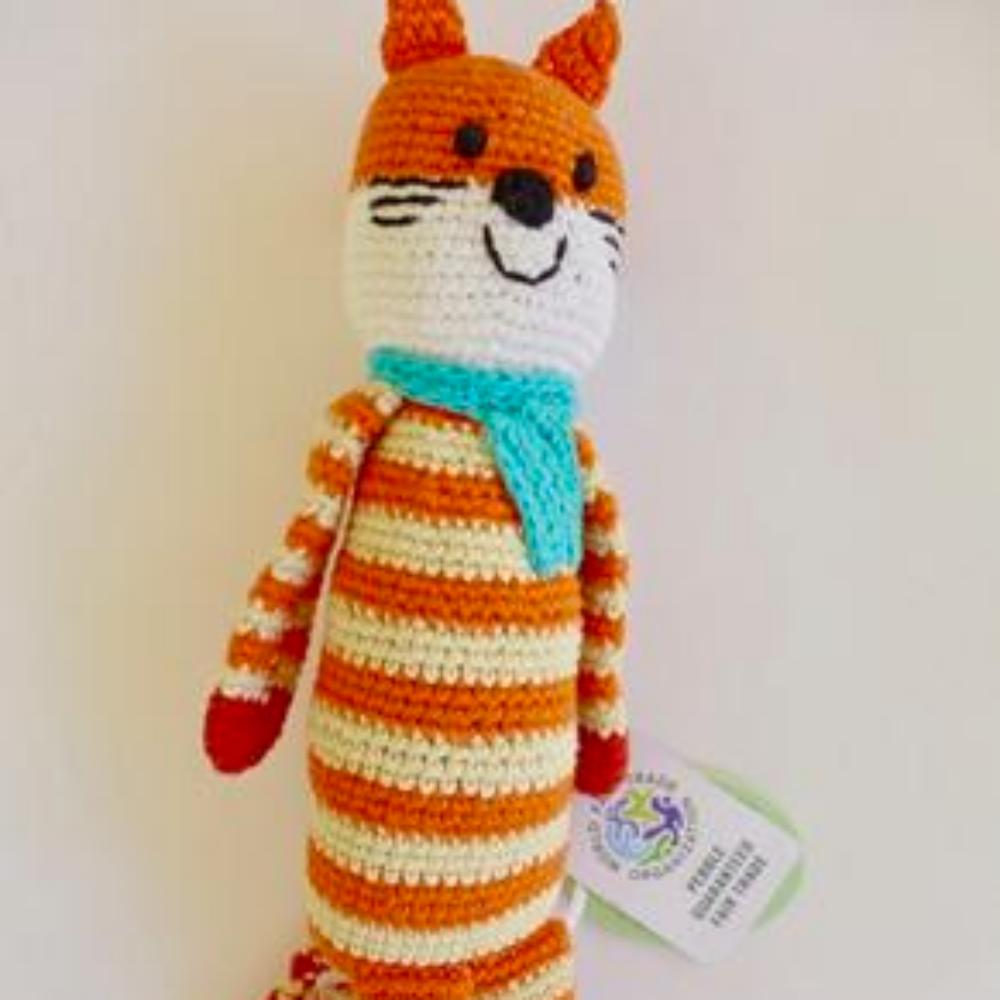 Knit fox stuffed toy