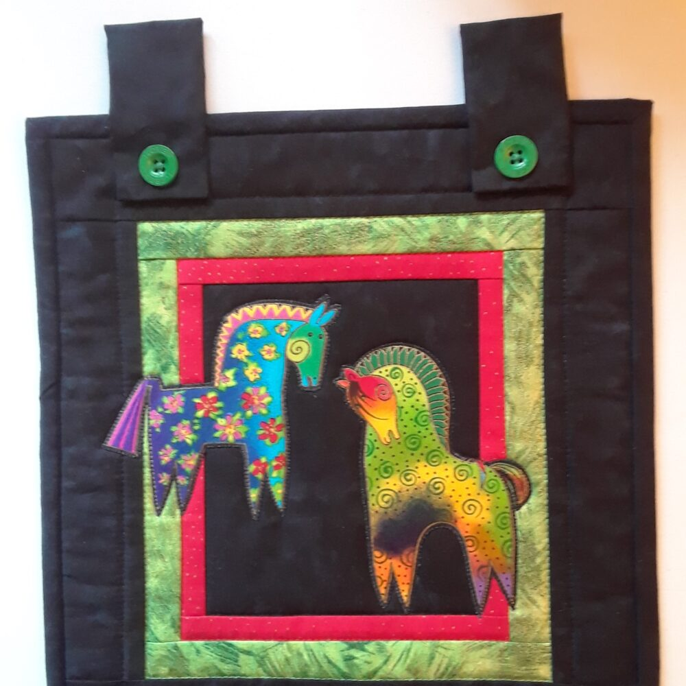 Colorful Horses tote bag