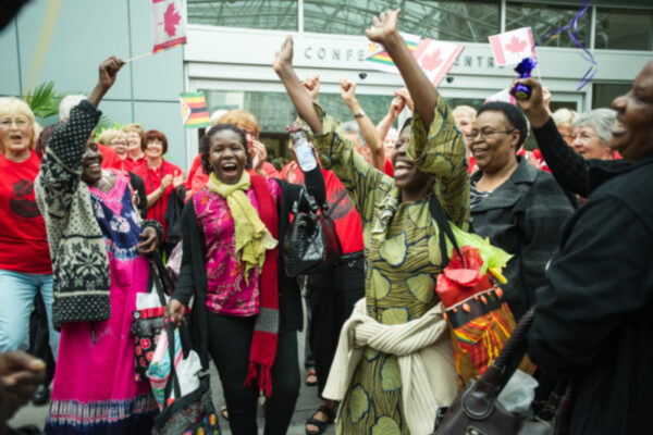 Arrival for the African Grandmothers Tribunal, Vancouver, Canada, 2013