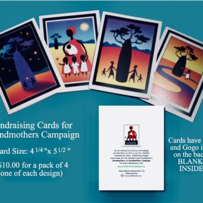 Image of greeting cards created by the Golden Ears Gogos