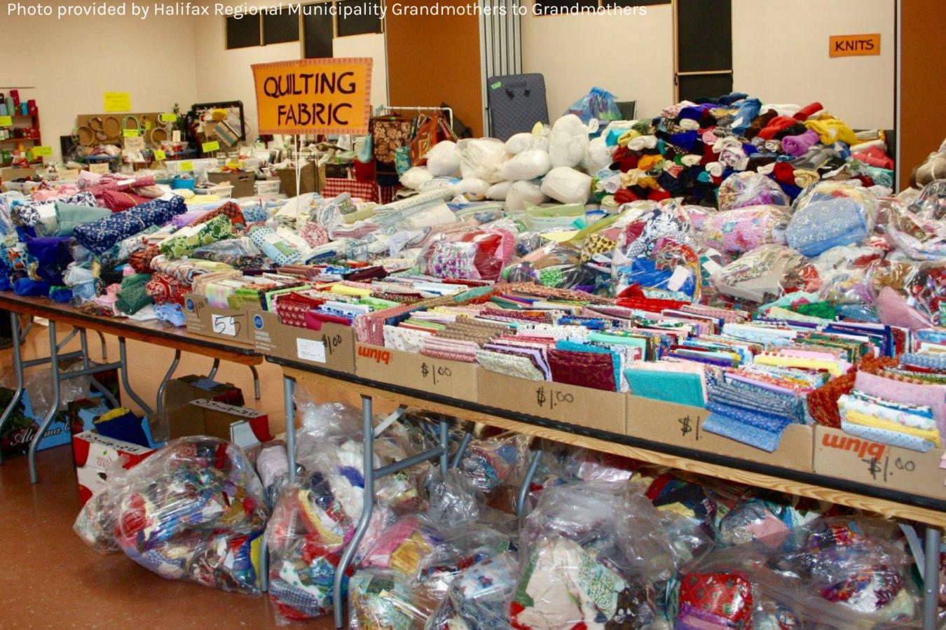 Halifax Regional Grandmothers' Fabric Sale