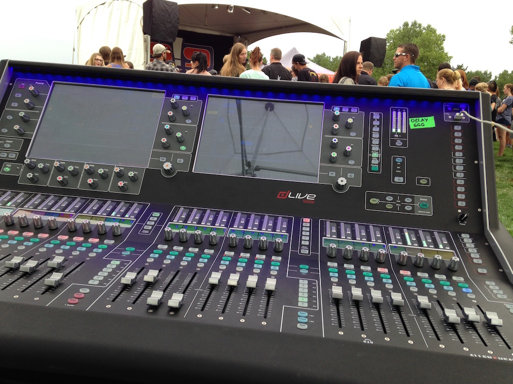 Concert Production and Mobile Staging at Budweiser Biergarten