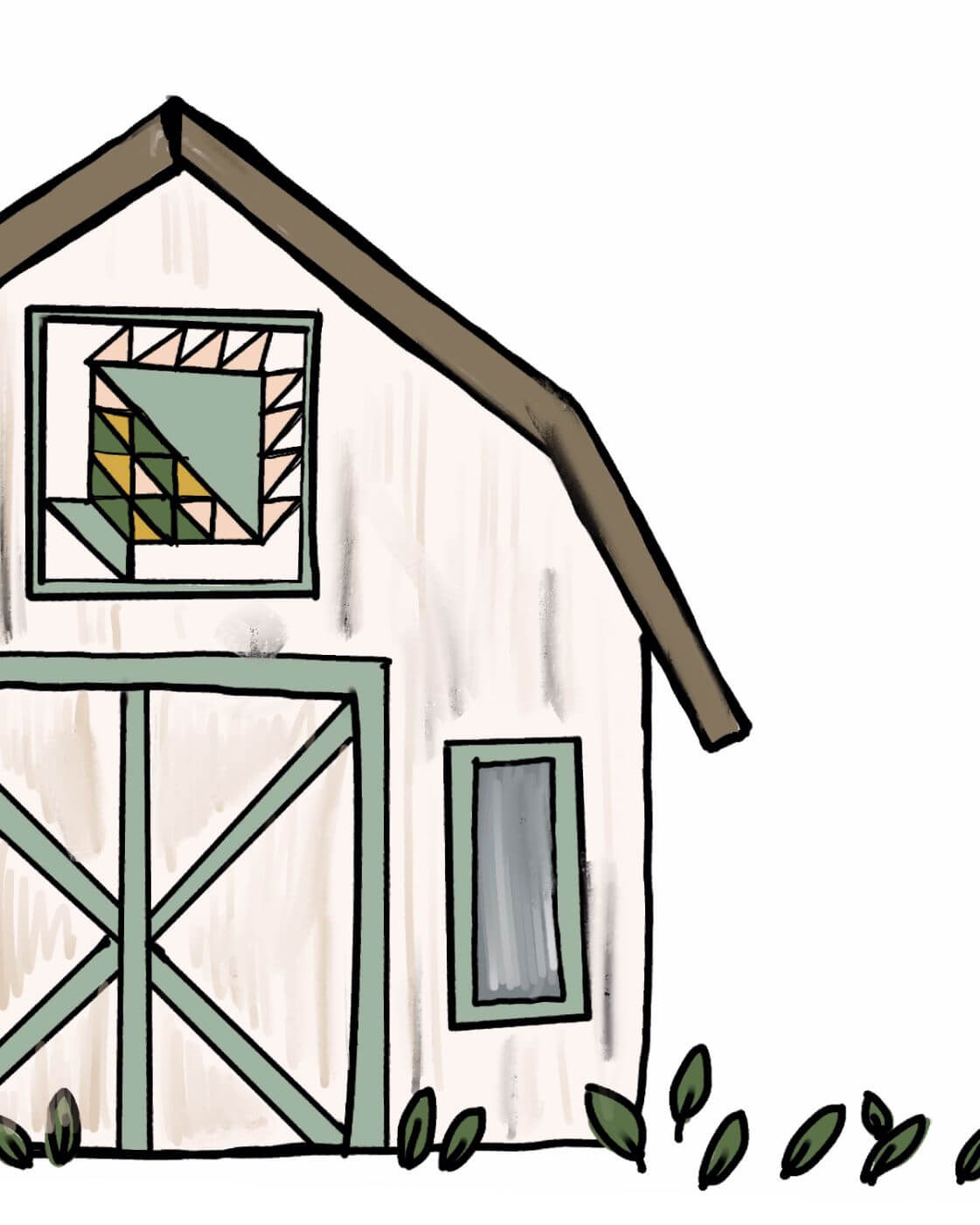 Name - Barn Quilts Corn and Beans Tag - Nature