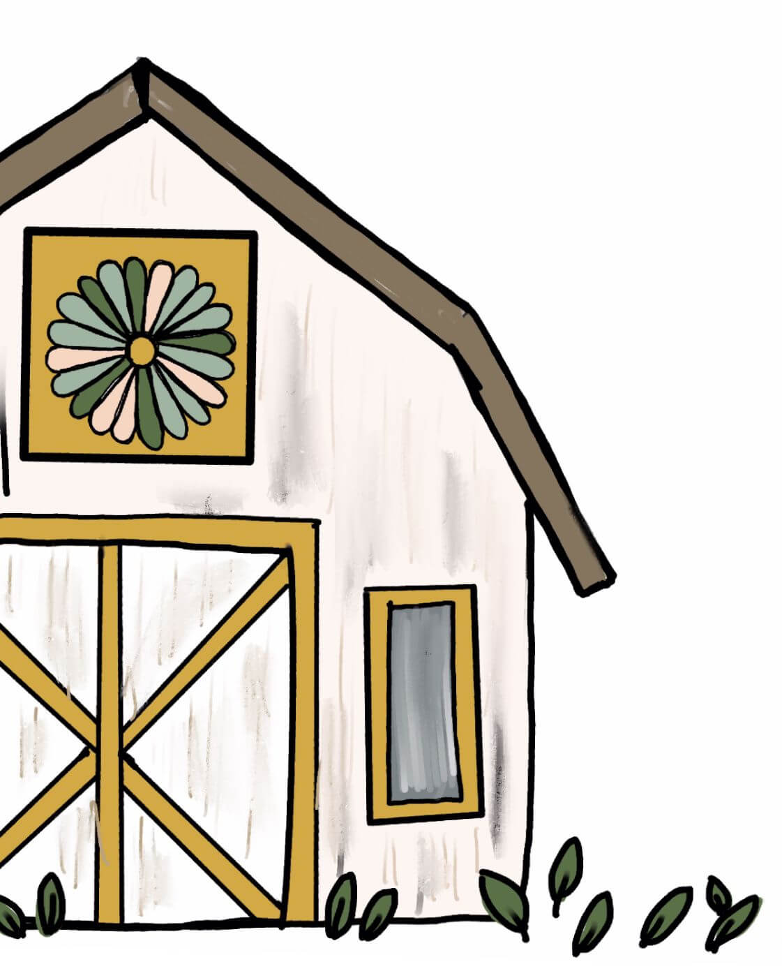 Name-Barn Quilts Daisy–Tag-Nature_Collection-Fall