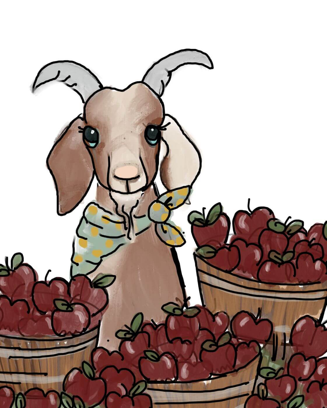 Name-Goat and Apples_Tag-Animals_Collection-Fall