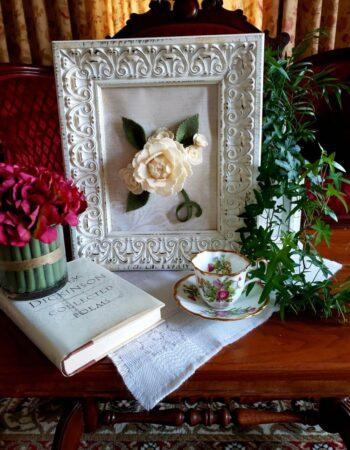 Heart Felt Charm Vintage Rose