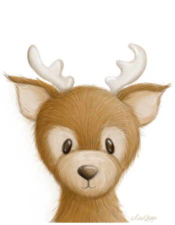 Deer on White Background