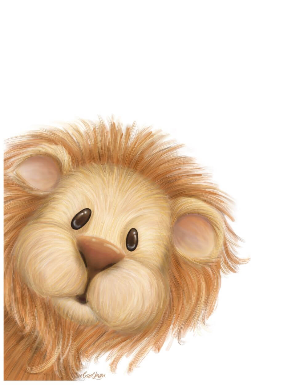 Name-Lion on White Background_Tag-Animals_Collection-All Seasons.