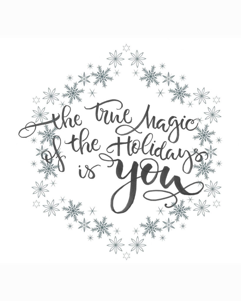 Name-The Magic of the Holidays isYou_Tag-Thinking of You Encouragement_Collection_Winter Christmas_portrait
