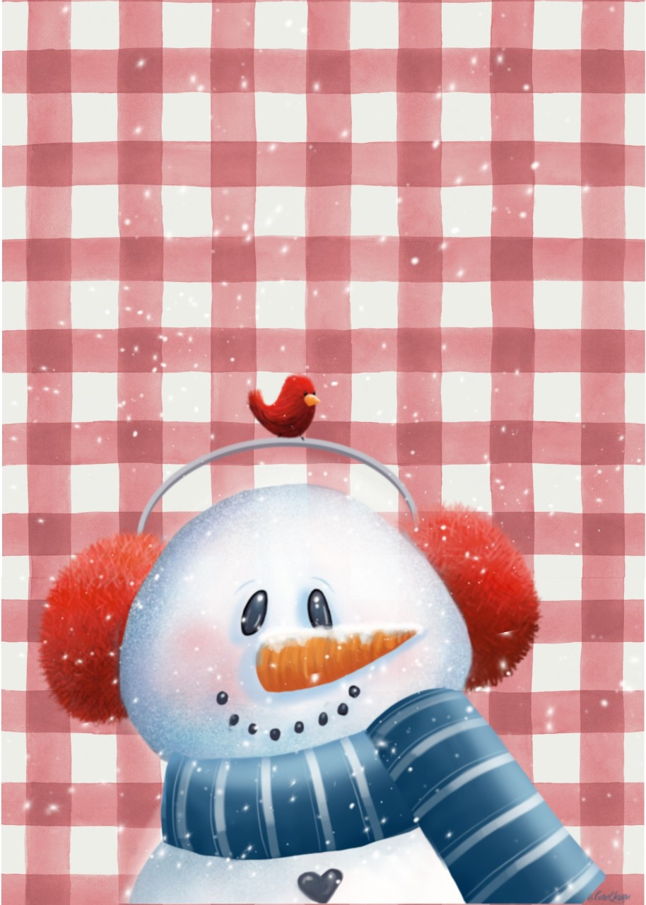 Plaid Buddie Snowman