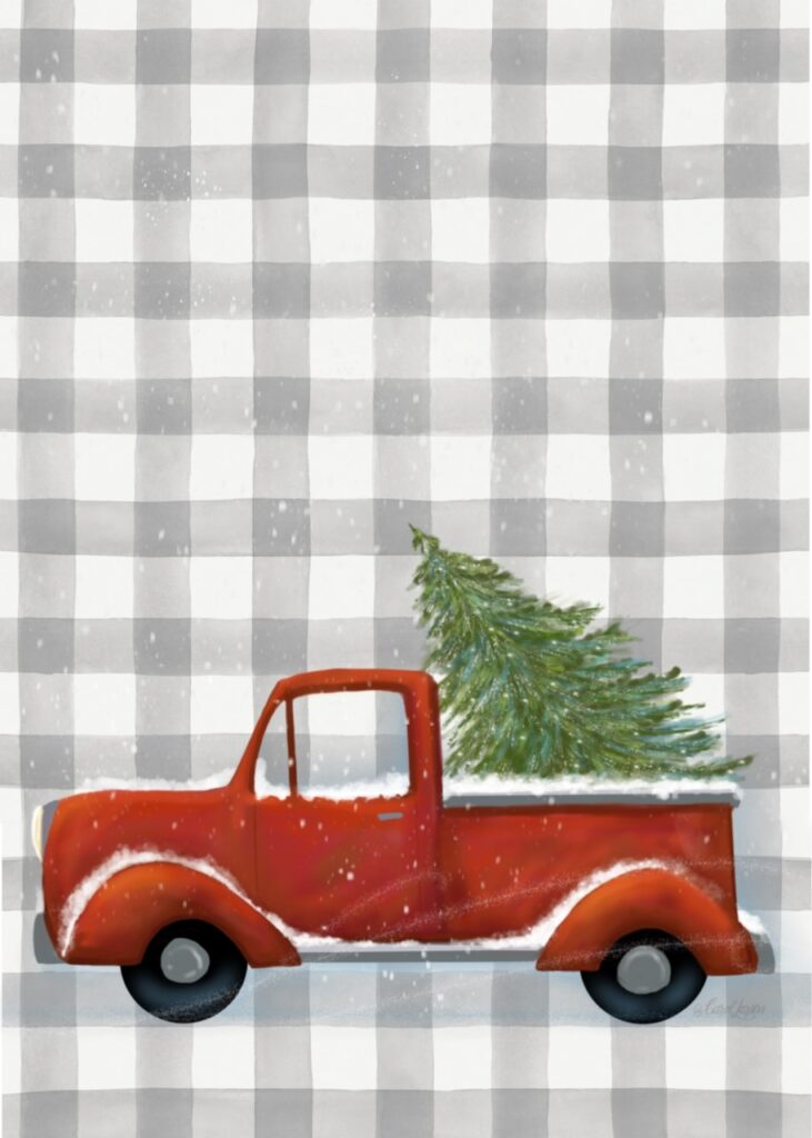 Plaid Buddy Truck and Tree