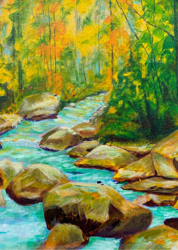 Name-Forest River Rocks_Tag-Nature_Collection-Fall