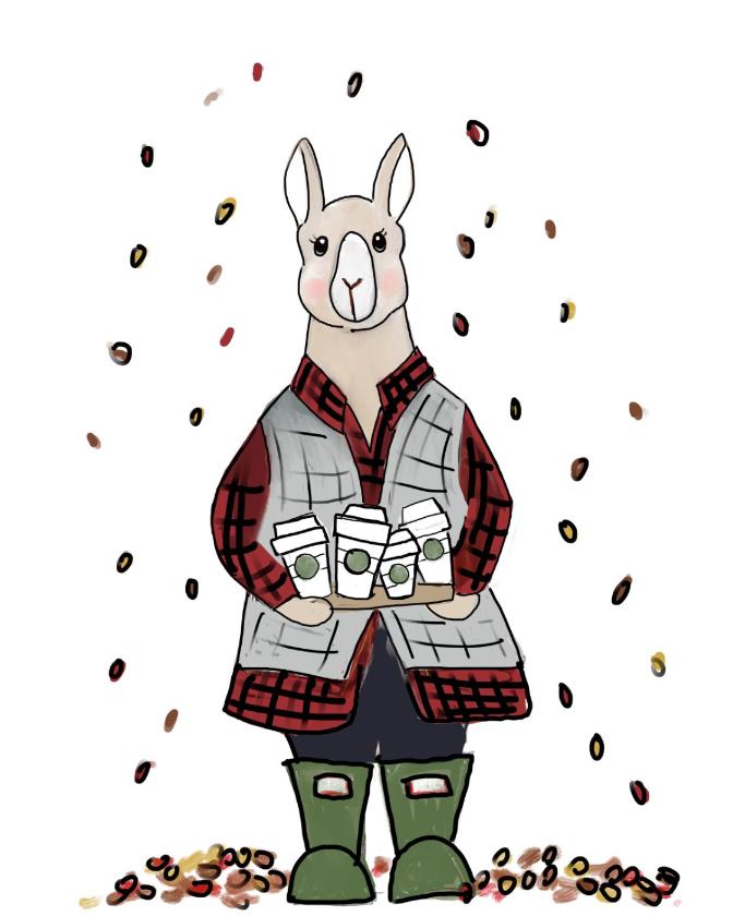AP Name- Llama and Lattes–Tag-Animals_Collection-Fall