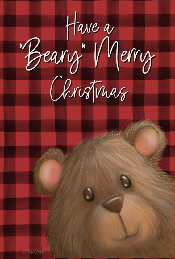 Name-Beary Christmas_Tag-Celebrations Animals_Collection-Winter