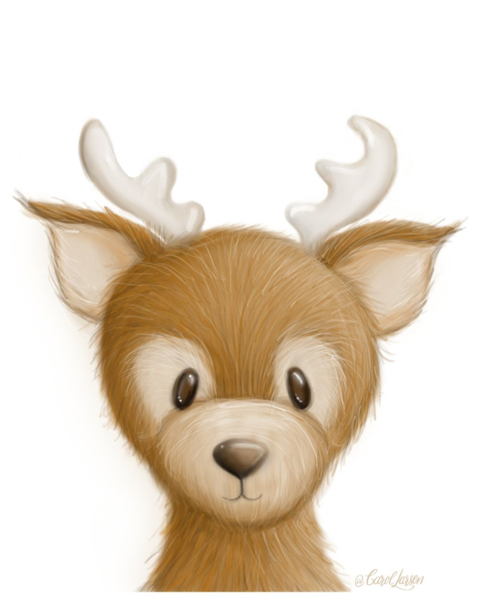 Name-Deer on White Background_Tag-Animals_Collection-All Seasons.