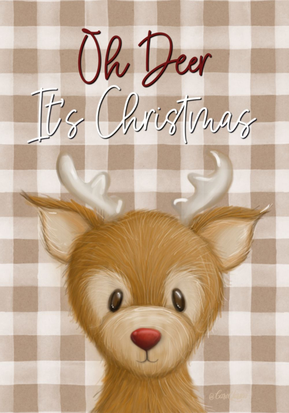 Name-Deer_Tag-Celebrations Christmas Animals_Collection_ Winter