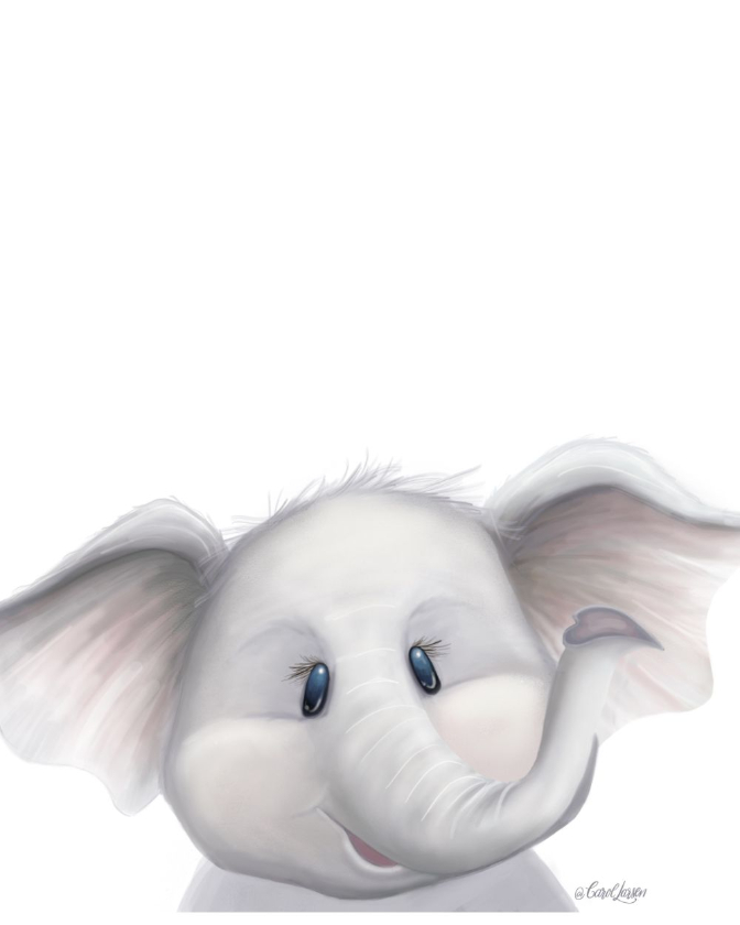 Name-Elephant on White Background_Tag-Animals_Collection-All Seasons.
