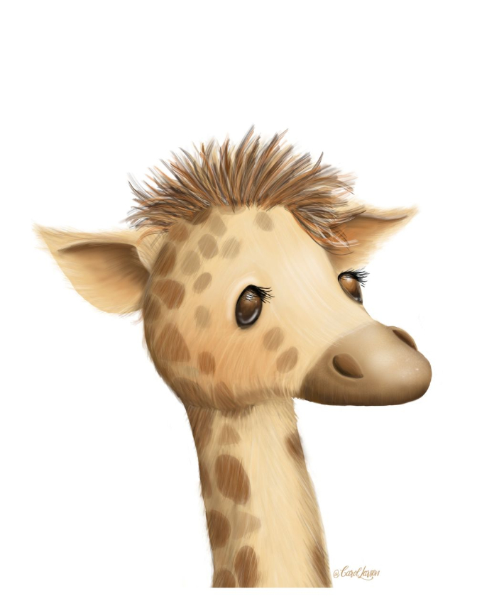 Name-Giraffe on White Background_Tag-Animals_Collection-All Seasons.