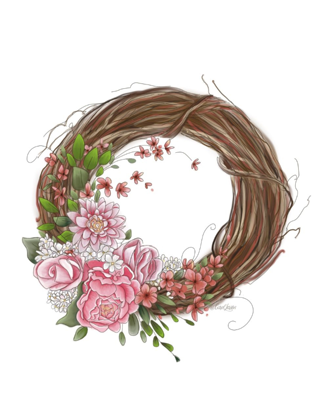 Name-Springs WreathTag-Thinking of you Celebrations Encouragement_Collection Spring