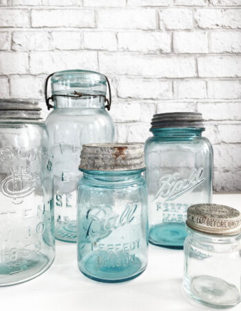 Canning Jars on counter