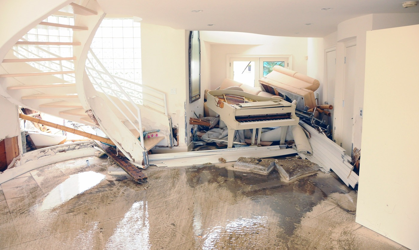 House flooded by storm surge